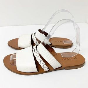M. Gemi leather flat sandals Sz 38 Italy made